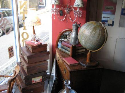 Interior of Crows Nest Antique shop